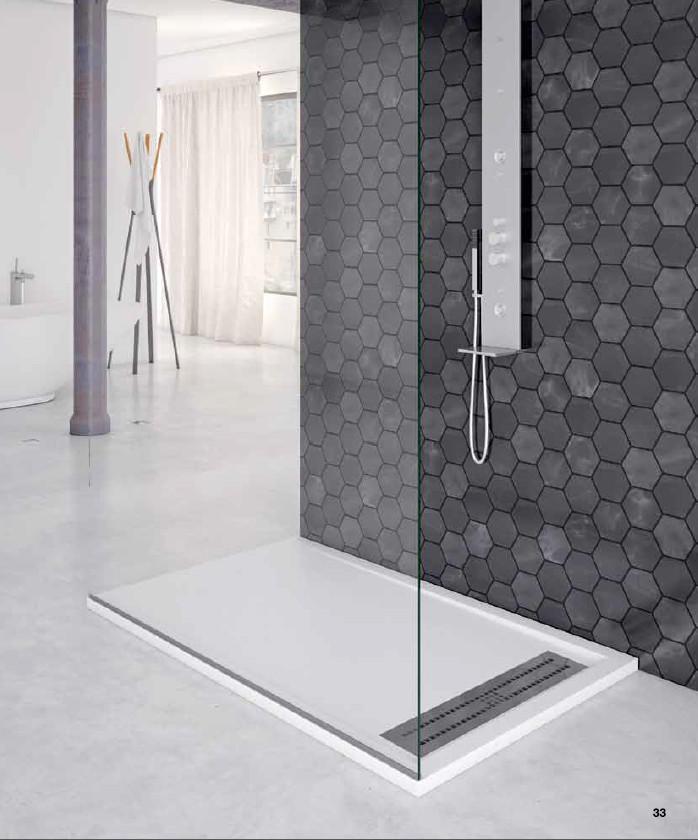 Plato ducha nudespol semimarco silexgel acabado pizarra o liso - Como limpiar el plato de ducha ...