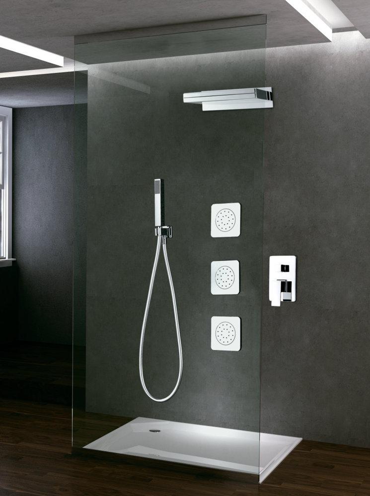 Grifer a empotrada de ducha imex formentera cascada monomando for Griferia monomando ducha
