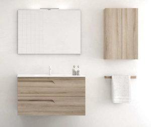 Mueble de ba o royo modelo vitale suspendido de 100cm for Mueble 45 cm ancho