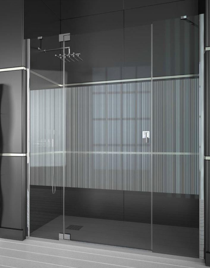 Mamparas ducha doccia kobe de 2 fijos y 1 puerta abatible - Mamparas abatibles para ducha ...