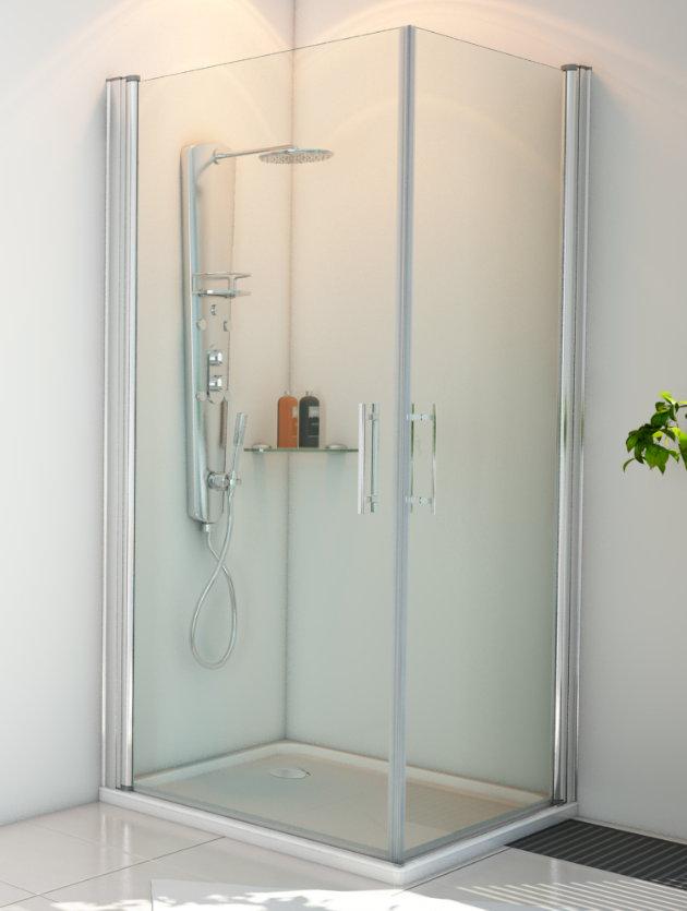 Mamparas ducha hidroglass indo de 1 fijo y 2 hojas - Mamparas abatibles para ducha ...