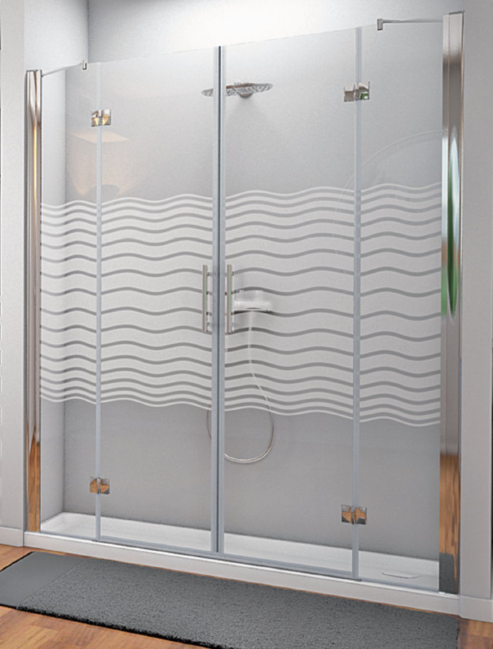 Mamparas ducha hidroglass sena de 2 fijos y 2 hojas abatibles - Mamparas abatibles para ducha ...