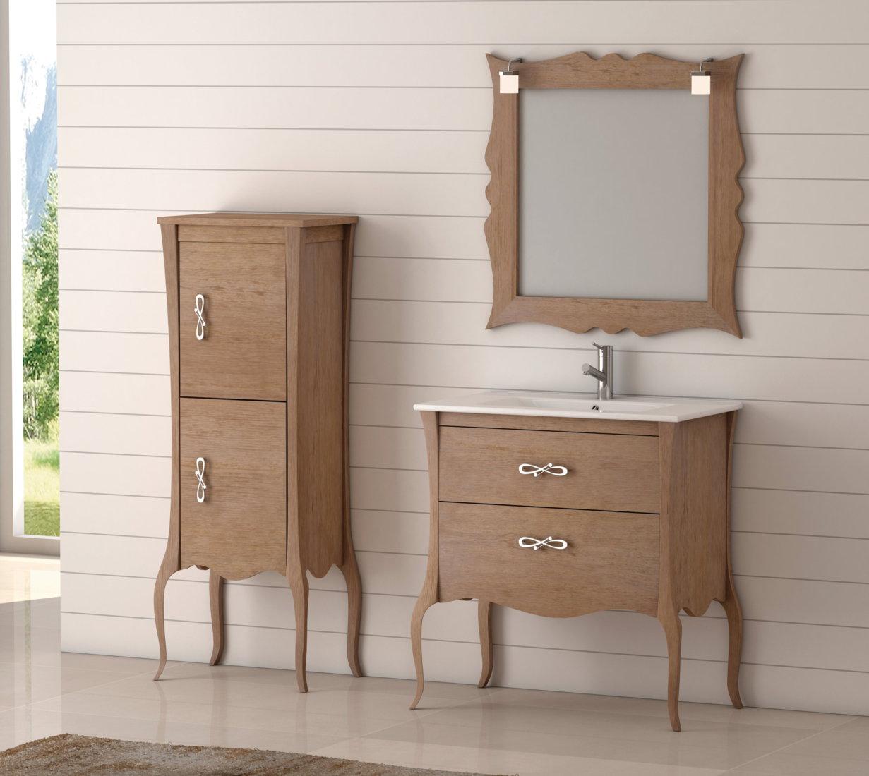 Batoni mueble de ba o de madera modelo niza caf - Bano de madera ...