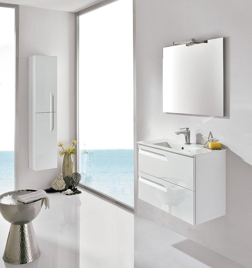 Mueble de ba o royo modelo vitale suspendido de 80cm for Muebles de cocina 45 cm
