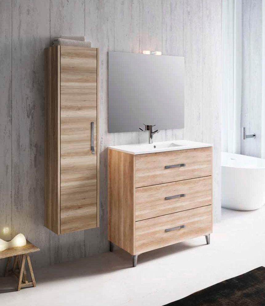 Inve mueble de ba o modelo erika con patas de 60cm for Muebles de bano 60 x 45