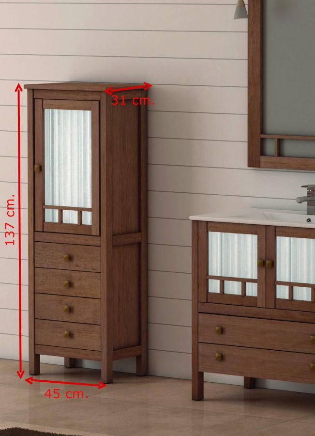 Mueble de ba o de madera batoni modelo merida 80 cm for Mueble 80 cm ancho
