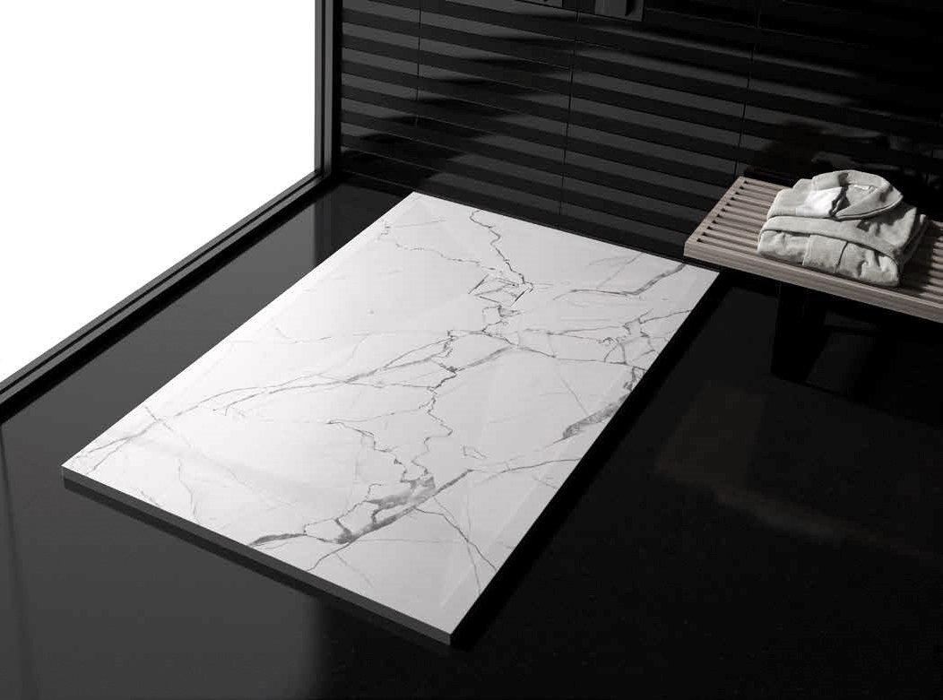 Plato ducha duplach stone 3d marmol blanco - Platos de ducha de marmol ...
