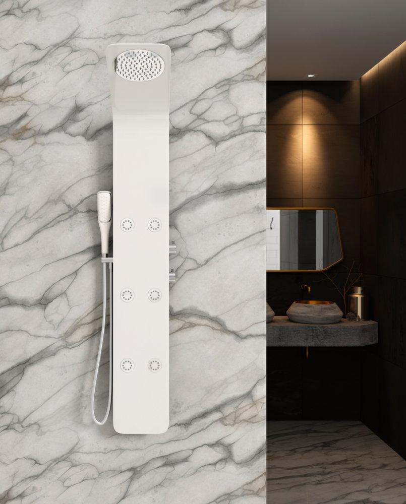 Columna de ducha hidromasaje sagobar h2o wara termost tica - Columnas de ducha termostaticas ...