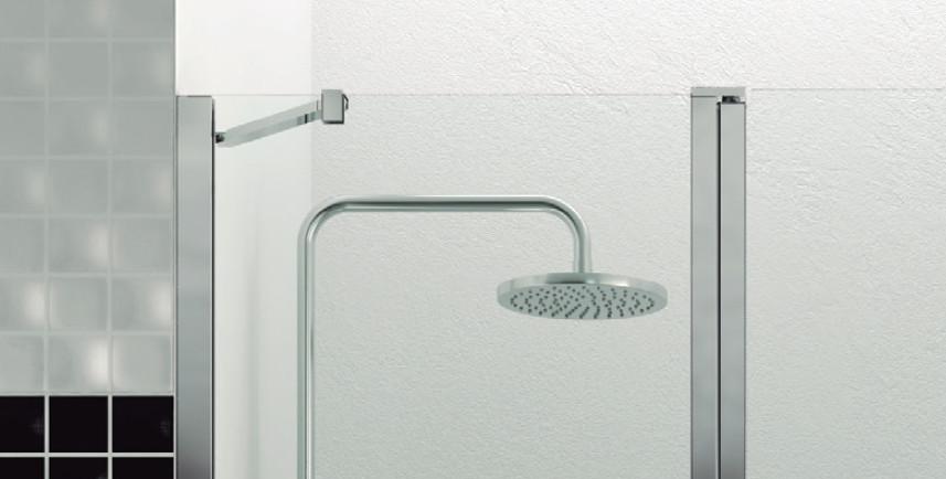 6mm mamparas ducha gme open 1 fijo 1 puerta abatible con - Mamparas de ducha duscholux ...