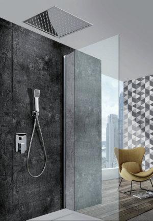 Grifer a empotrada de ducha imex gales monomando 30x30 for Griferia monomando ducha