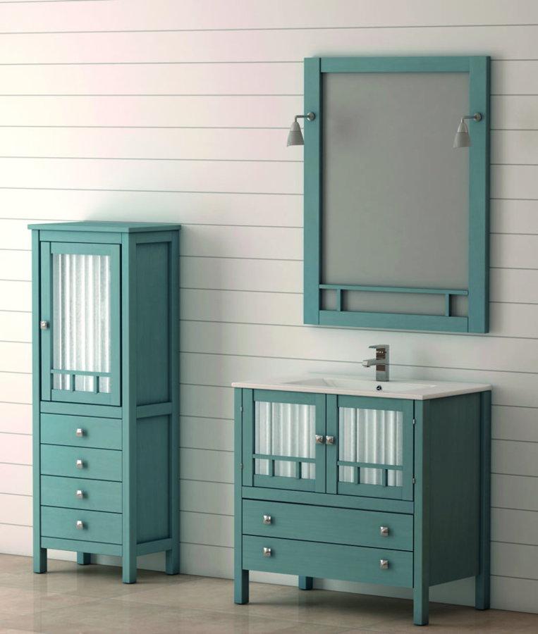 Mueble de ba o de madera batoni modelo merida 80 cm - Muebles auxiliares de bano para colgar ...