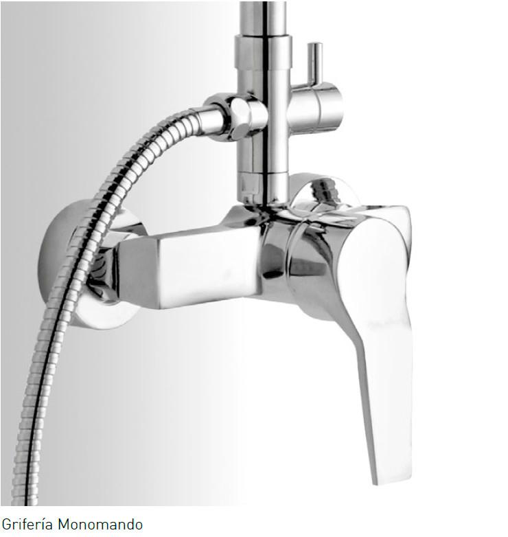Barra de ducha aquassent mallorca monomando for Griferia bano barata