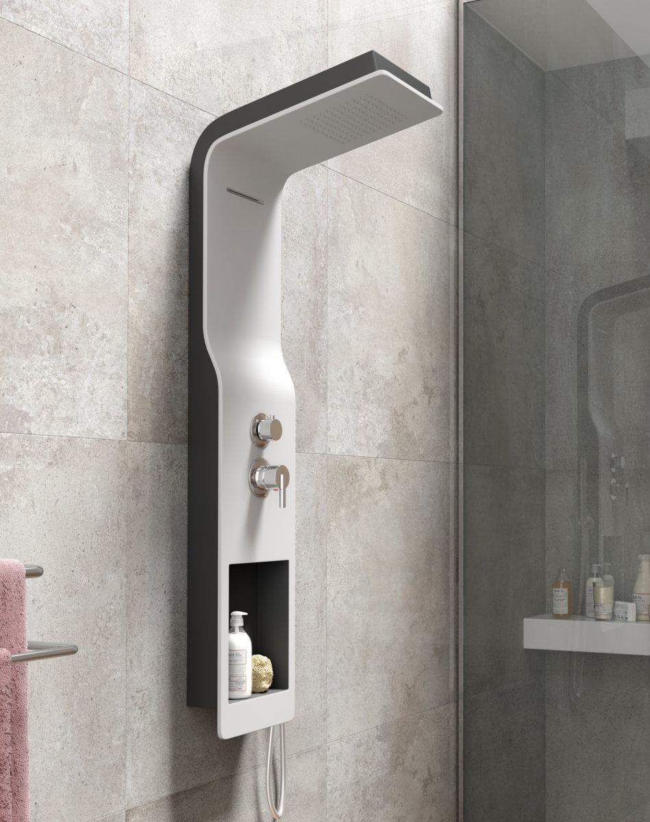 Columna de ducha sagobar h2o uma termost tica - Columnas de ducha termostaticas ...