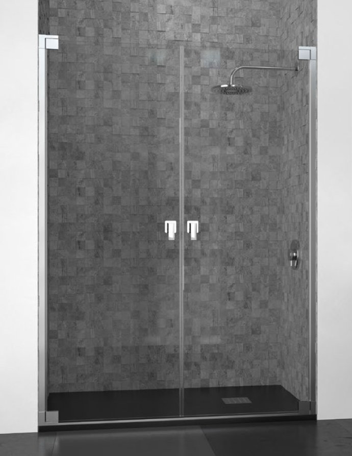 Mamparas ducha doccia doha de 2 puertas abatibles - Mamparas de ducha puertas abatibles ...