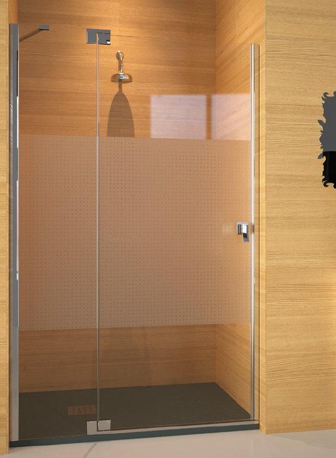 Mamparas ducha doccia kabul de 1 fijo y 1 puerta abatible for Mampara ducha fijo abatible