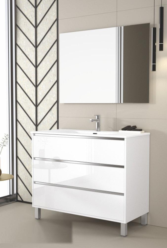 100 cm. Mueble de Baño DUPLACH Modelo VESUBIO Con Patas
