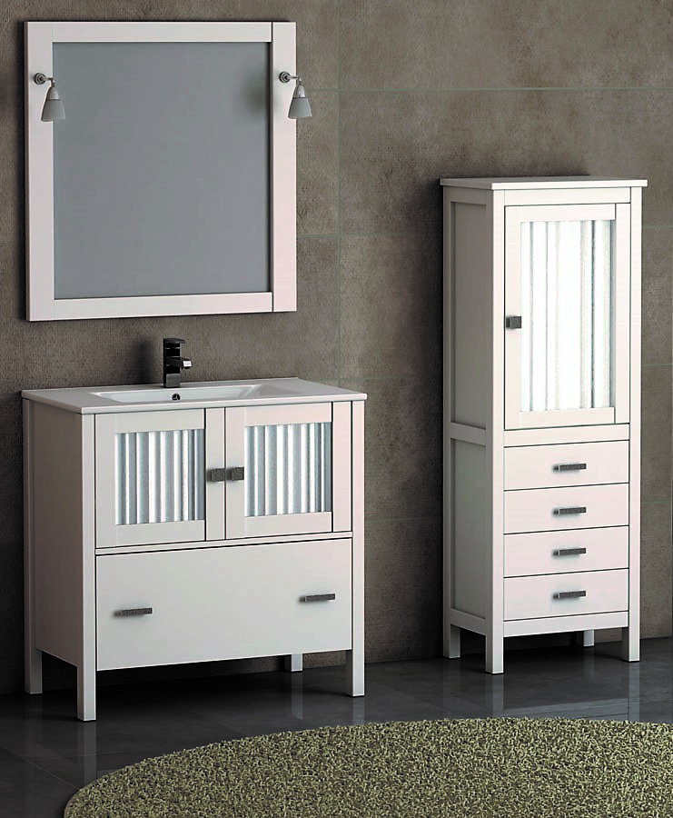 Mueble de ba o de madera batoni modelo cerler 80 cm - Muebles de bano blanco mate ...