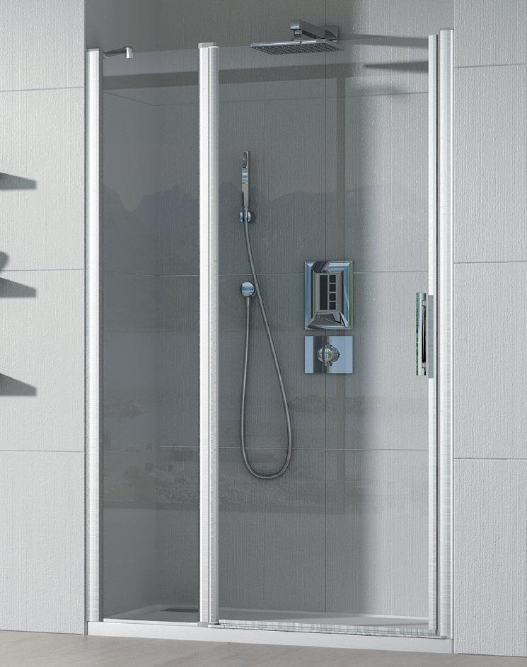 Mamparas ducha hidroglass cauca de 1 fijo y 1 hoja abatible for Mampara ducha fijo abatible