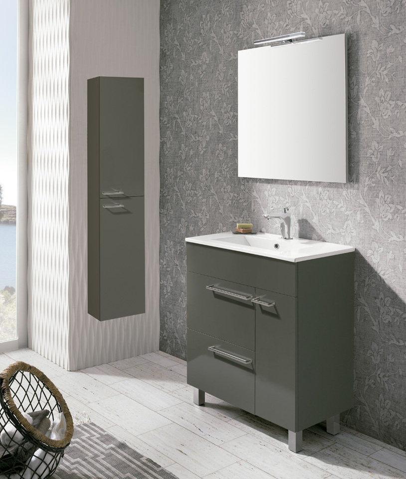 Mueble de ba o royo modelo confort 70cm con patas fondo for Mueble bano 75 cm