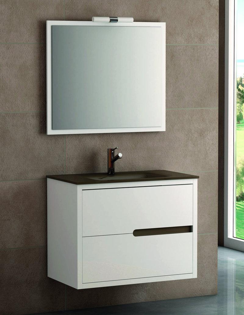Altura mueble bao suspendido el cajn superior tiene una altura especial para salvar el lavabo - Altura mueble bano ...