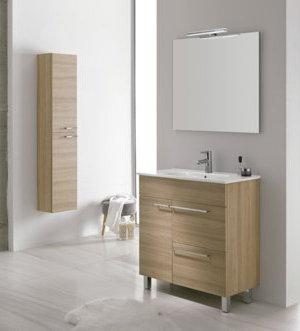 Mueble de ba o royo modelo confort 70 cm con patas fondo for Mueble 20 cm fondo