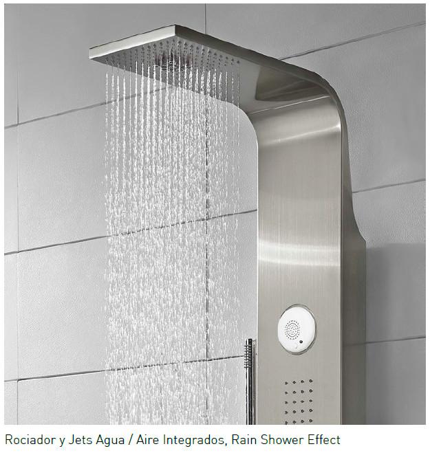 Columna de ducha hidromasaje aquassent serena termost tica - Columnas de ducha termostaticas ...