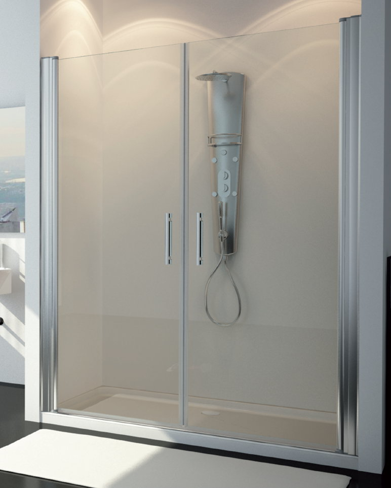 Mamparas ducha hidroglass ebano de 2 hojas abatibles - Mamparas de ducha online ...
