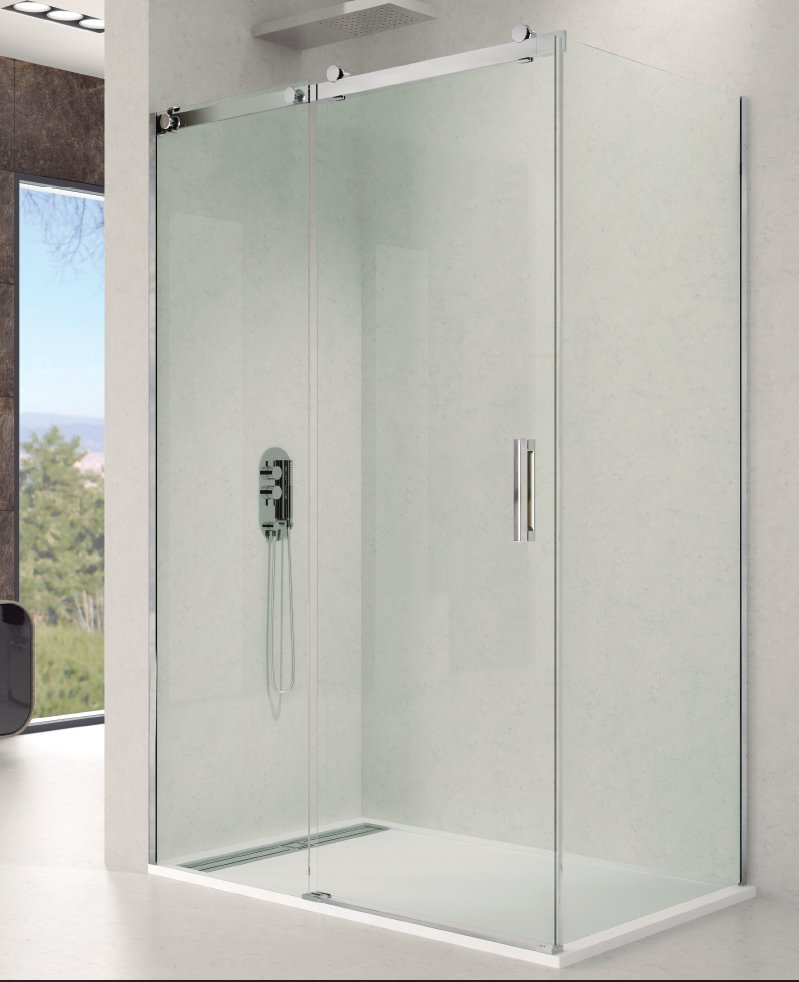 Mamparas ducha gme rotary 1 fijo y 1 corredera con lateral - Mamparas ducha online ...
