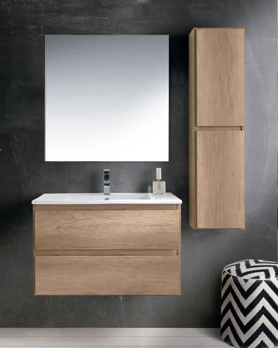 Socimobel mueble de ba o modelo manila suspendido fondo 40 cm for Mueble 10 cm fondo