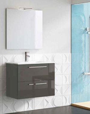 Mueble de ba o royo modelo easy suspendido de 70cm fondo for Mueble 45 cm ancho