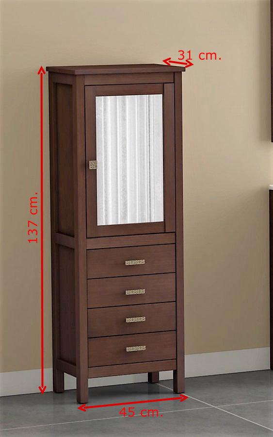 Mueble de ba o de madera batoni modelo cerler 80 cm Mueble auxiliar bano madera
