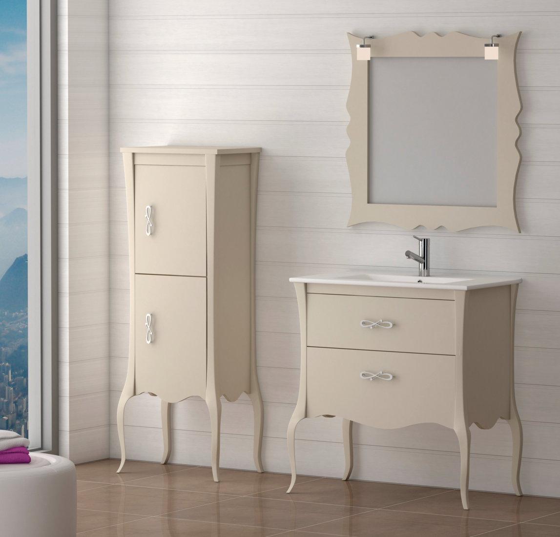 Batoni mueble de ba o de madera modelo niza camel - Muebles de bano de madera ...