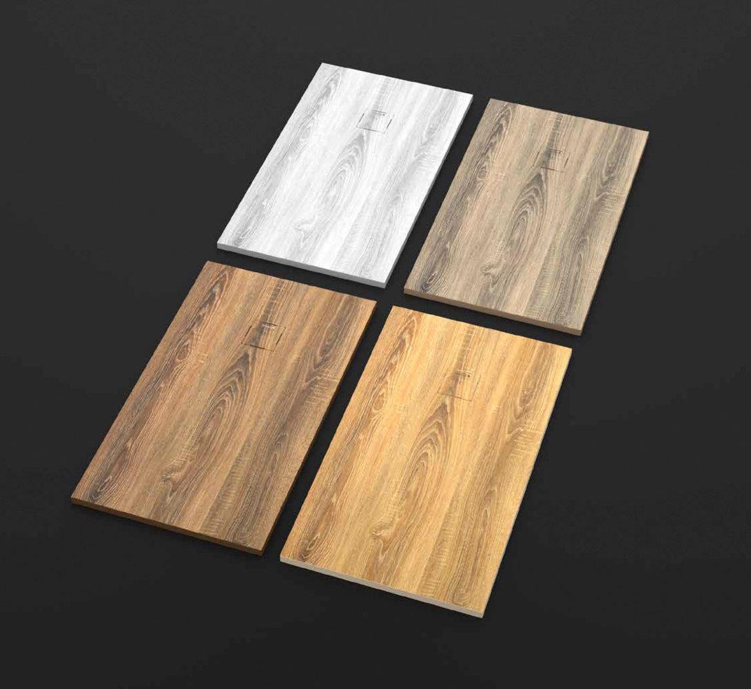 Plato ducha duplach stone 3d madera de nogal for Marmol color madera