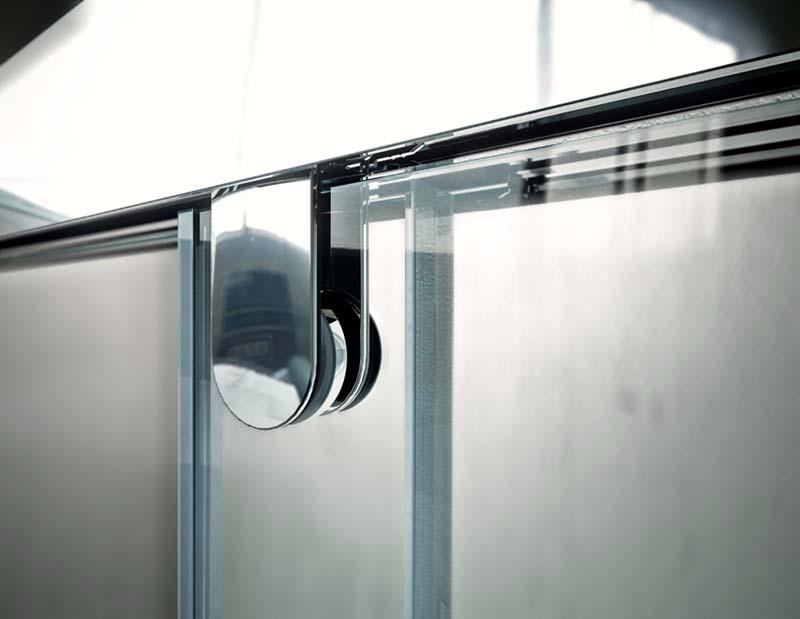 Hidroglass mampara de ducha modelo hudson de 3 hojas for Mamparas ducha a medida