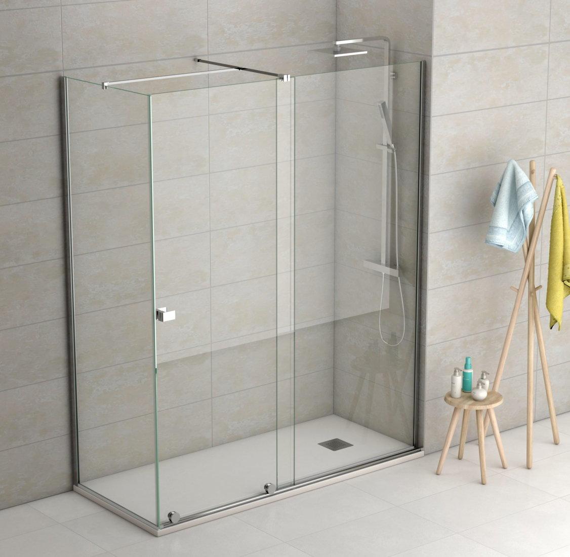 Mampara de ducha becrisa modelo manhattan de 1 fijo y 1 - Como hacer una mampara ...