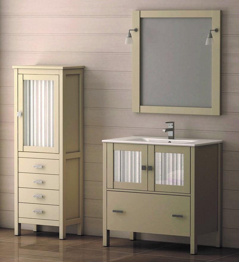 Mueble de ba o de madera batoni modelo cerler 100 cm for Modelos de muebles de madera