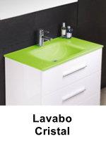 Muebles Bano Lavabo Cristal.70 Cm Mueble De Bano Batoni Modelo Mistral Suspendido