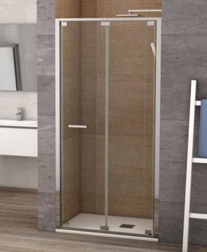 Mampara de ducha becrisa modelo munich de 2 hojas plegables for Hojas plegables