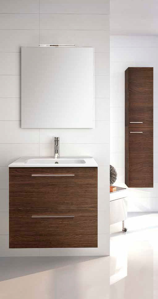 Mueble de ba o royo modelo easy suspendido de 60cm fondo for Muebles de cocina 60 cm